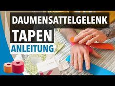 DAUMENSATTELGELENK TAPEN / STABILISIEREN - Daumen tapen Anleitung - Kinesiologie Tape Daumen - YouTube