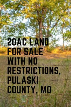 Imagine owning 20ac land with no restrictions- Its amazing to be able to hunt, camp, build, RV without filling in forms and getting permission. This located near Dixon Missouri. Beautiful parcel of land for sale- check it out today! Vacant Land, Land For Sale, Homesteading, Landing