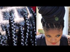 I love this method its like an invisible box braid!! 2014 Healthy No Knots Box Braids On Short Hair, No Breakage, Grow Health...