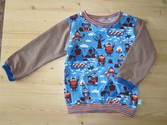 Langarmshirts - Langarm-Shirt Wikinger - Lillestoff - ein Designerstück von KreaSurium bei DaWanda