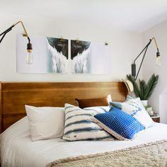 Bright and calm mid-century bedroom renovation.