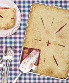 Strawberry Ginger Slab Pie