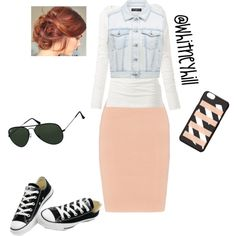 Casual look!! by whitneyhill on Polyvore featuring polyvore, fashion, style, Fat Face, Forever New, Jonathan Simkhai, Converse, MARC BY MARC JACOBS and Ray-Ban