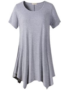 larace womens swing tunic tops loose fit comfy flattering T-shirt tops Cut  Loose a73d28d64a2f