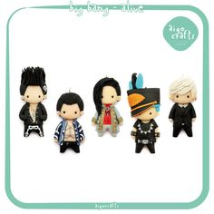 Kpop Polymer Clay Big Bang Alive Cell Phone Charm  by AigoCrafts