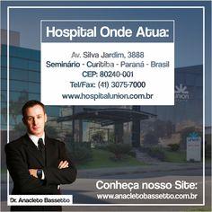 Conheça o hospital onde atuo! www.anacletobassetto.com.br