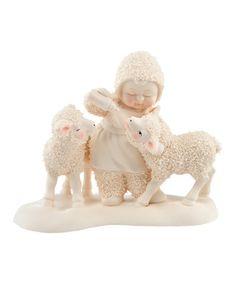 Look what I found on #zulily! Little Lamb Figurine by Snowbabies #zulilyfinds