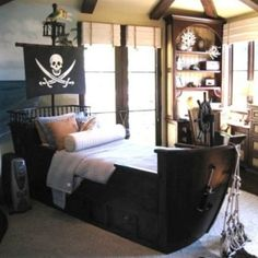 Bed idea.  Who says it has to be for boys?!  Big girls can like it too!!