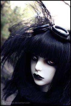 goth gothic bjd art artwork doll