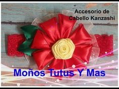 BANDITA CON FLOR KANZASHI Paso a Paso KANZASHI FLOWER HEADBAND Tutorial DIY How TO PAP