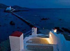 Isidoros church in Leros, Greece Stairs To Heaven, Santorini Villas, Myconos, Beautiful Places, Beautiful Pictures, Greek Beauty, Greece Wedding, Greek Islands, Airplane View