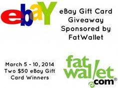 $50 eBay Gift Card Giveaway -  2 Winners