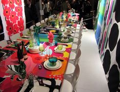 marimekko's amazing entry in the Dining by Design event, a fundraiser for Design Industries Foundation Fighting AIDS,  hosted by Architectural Digest.