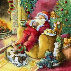 When Christmas is over, Santa sleeps :)