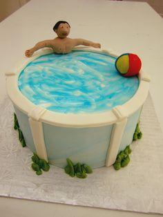 Gâteau piscine - (www.mllesgateaux.com)