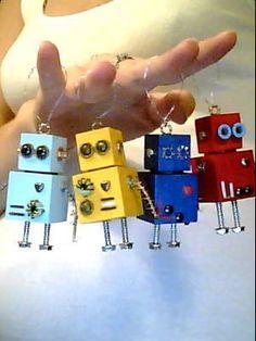 Robot Christmas Ornament. $15.00, via Etsy.