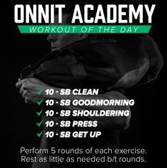 Workout Details This is the Onnit Academy Workout of the Day. Today's workout is a sandbag workout consisting of 1 giant set performed for 5 rounds. This is of a series of daily workouts … Sandbag Workout, Wod Workout, Workout Posters, Workout Guide, Workout Routines, Spartan Workout, Crossfit Workouts At Home, Fit Board Workouts, Workout Board