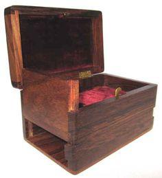 India Brass Inlay Puzzle Box