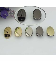 100pcs Zipper Ends with screws silverantique golden by kesterpurse
