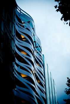 Toyo Ito's Hugo Boss store plus apartments on the passeig de gracia in Barcelona, Spain (photo by le hubs)