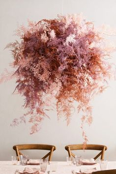 Three Beautiful, Unexpected Ways to Work Dried Flowers Into Your Wedding Dried Flower Arrangements, Flower Centerpieces, Dried Flowers, Wedding Centerpieces, Wedding Bouquets, Wedding Flowers, Purple Bouquets, Flower Bouquets, Purple Wedding