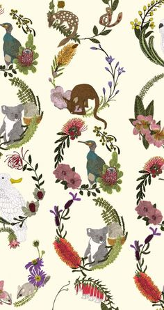 Sparkk - Interior Textiles & Wallcoverings Printed in Australia Quoll designed by Alice Newman