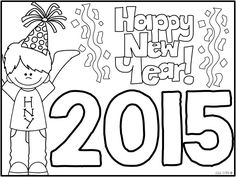 {FREE} coloring sheet for new year