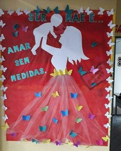 School Board Decoration, School Decorations, Mothers Day Decor, Mothers Day Crafts, Diy Arts And Crafts, Paper Crafts, Art For Kids, Crafts For Kids, Clinic Design