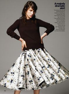The skirt. (Tali Lennox by Bjarne Jonasson for US Glamour August 2013)