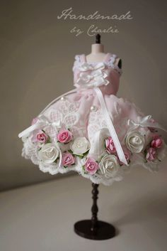 blythe flower dress / rose garden /Cute princess by qiqikoko