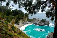 Chasing The Bay Area's Best Waterfalls   7x7 - McWay Falls is a place to stop if heading towards Big Sur - Beautiful- but be sure to visit Alamere Falls, Cataract Falls, Big Basin, and Russian Gulch