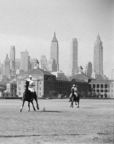 Vintage polo on Governor's Island