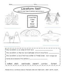 Printables Landforms Worksheets kid for kids and waterfalls on pinterest printable landform worksheets weekly editing sheets set3 michelle proper teacherspayteachers