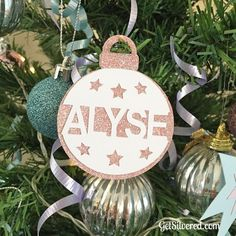 Personalize a Split Christmas Bauble.