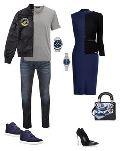 """""""Bae's Blues"""" by lalalace-1 ❤ liked on Polyvore featuring Polo Ralph Lauren, Citizen, Timberland, Nixon, Christian Dior, Armani Jeans, Joseph, Alpha Industries, Casadei and Dsquared2"""