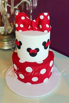 29 Ideas Birthday Cake Girls Ideas Minnie Mouse For 2019 Minni Mouse Cake, Bolo Da Minnie Mouse, Mickey And Minnie Cake, Bolo Mickey, Minnie Mouse Birthday Cakes, Mickey Cakes, Birthday Cake Girls, 2nd Birthday, Birthday Ideas