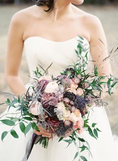 Dreamy dark hues bridal bouquet for fall wedding Mauve Wedding, Fall Wedding Flowers, Fall Wedding Colors, Mod Wedding, Bridal Flowers, Wedding Bells, Floral Wedding, Summer Wedding, Dream Wedding