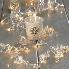 Beaded Crystal Garland Fairy Lights