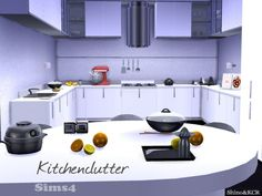 The Sims Resource: Kitchen Clutter by ShinoKCR • Sims 4 Downloads