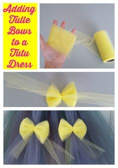 Adding Tulle Bows To a Tutu Dress. DIY Tutu Dress. How to make simple Tulle Bows.