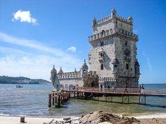 Tower of Belem in Lisbon Belem, Disneyland, Der Bus, Golf Tour, Lisbon Portugal, Tower Bridge, Just Go, Places Ive Been, Travel Destinations