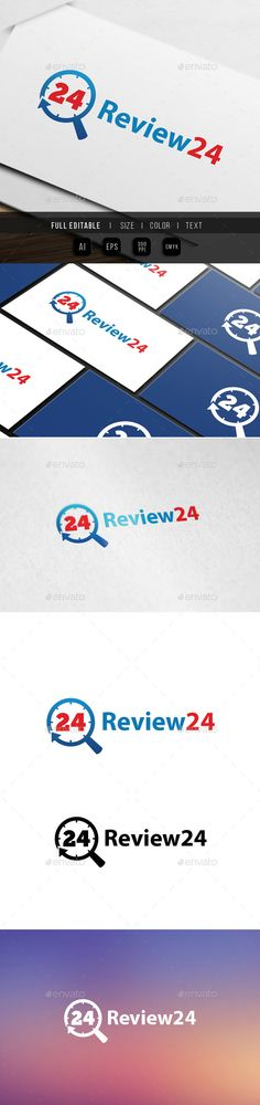 review search 24 hour logo template 100 Vector Color Variations : Full colors, Black, White File Format : AI & EPS Color Mode Logo Design Template, Logo Templates, Best Logo Design, Design Logos, Graphic Design, Editable, Service Logo, Logo Branding, Logo Ad