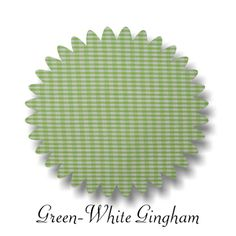 Green Gingham Fabric 45-in Wide 2-yd piece, $8.00