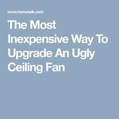 The Most Inexpensive Way To Upgrade An Ugly Ceiling Fan Painting Ceiling Fans, Spray Painting, Being Ugly, Blade, Purpose, God, Dios, Allah, Llamas