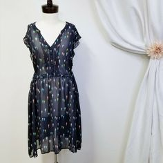 22a23d59f2 MODCLOTH Expert In Your Zeal Sheer Pintuck Seahorse Dress NO LINER Plus  Size 4X #ModCloth