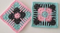 easy crochet granny square pattern for beginners - crochet granny motif knitting pattern - YouTube Easy Granny Square, Granny Square Crochet Pattern, Crochet Squares, Crochet Granny, Crochet Motif, Easy Crochet, Crochet For Beginners, Pot Holders, Youtube