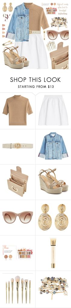 """""""My mood today"""" by jan31 ❤ liked on Polyvore featuring Theory, malo, Gucci, Frame, Salvatore Ferragamo, Sergio Rossi, Gas Bijoux, BHCosmetics, Yves Saint Laurent and ULTA"""