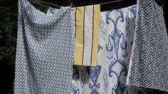 Blue Ikat Curtains Robert Allen Khandar Indigo Ikat Curtains, Robert Allen, Indigo, Blouse, Room, Crafts, Design, Women, Fashion