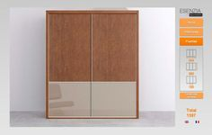 Armario dos puertas acabado con los paneles personalizados