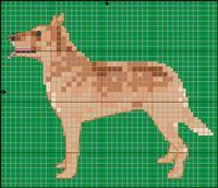 Laekenois Dog Free Cross Stitch / Knitting Pattern